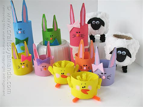 Easter Paper Craft Ideas - 11 cardboard crafts for easter crafts by amanda
