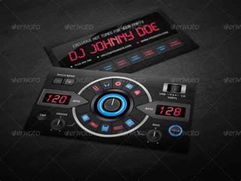 dj business card templates psd 15 creative template psd design trends