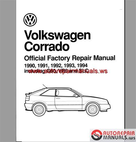 Bentley Volkswagen Corrado Repair Manual 1990 1994 Auto