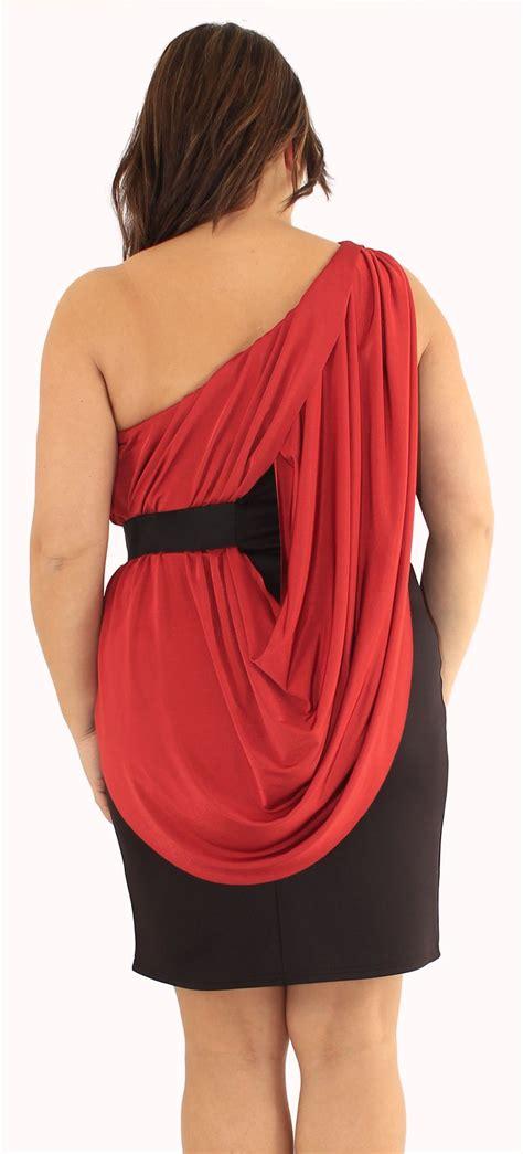 Robe De Soirée Taille 46 - nouveaux femmes grande taille one shoulder drape robe de