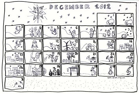 free printable nativity advent calendar se7en s december and free printable advent calendar