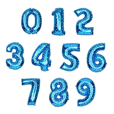 Balon Foil Angka Gold Foil Gold blue number foil balloon partysaurusland