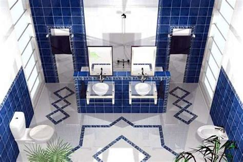 cobalt blue bathroom floor tiles ideas  pictures