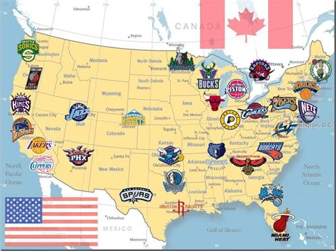 nba team map pin by shawn lan on about teaching nba and