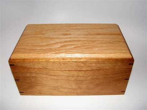 Handcrafted Wooden Box - memory box mahogany and ash keepsake box 9 75 quot x