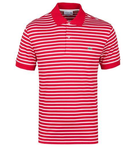 Polo Shirt Lacoste Stripe Import Lacoste White Stripe Regular Fit Polo Shirt