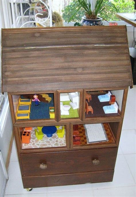 recycle your old furniture into a toy planetfem uk turn an old dresser into a doll house diy projects for
