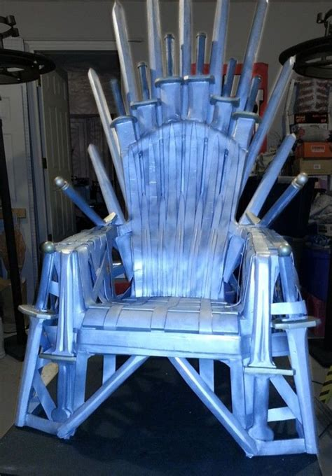 Make Your Own Armchair by How To Make Your Own Iron Throne From A Lawn Chair