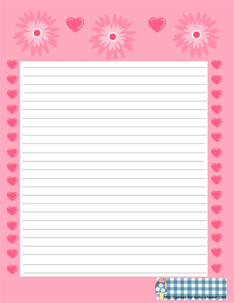 printable stationery items free printable baby shower stationery