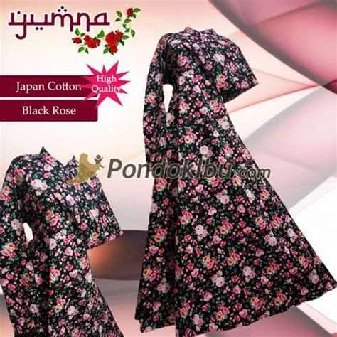 Gamis Katun Jepang Ori Black Series gamis syar i yumna series pondok ibu