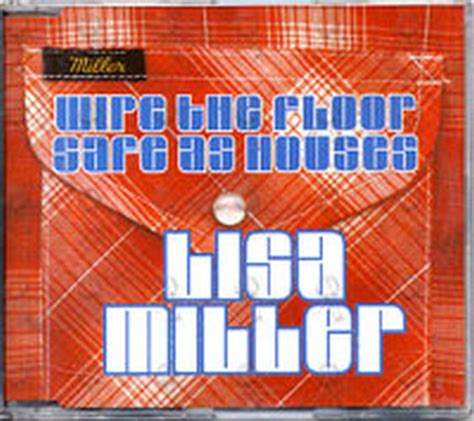 safe as houses miller lisa safe as houses wipe the floor cd single ep rare records