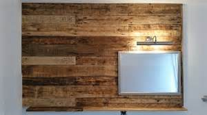 pallet wall bathroom pallet bathroom wall with mirror and shelf 99 pallets