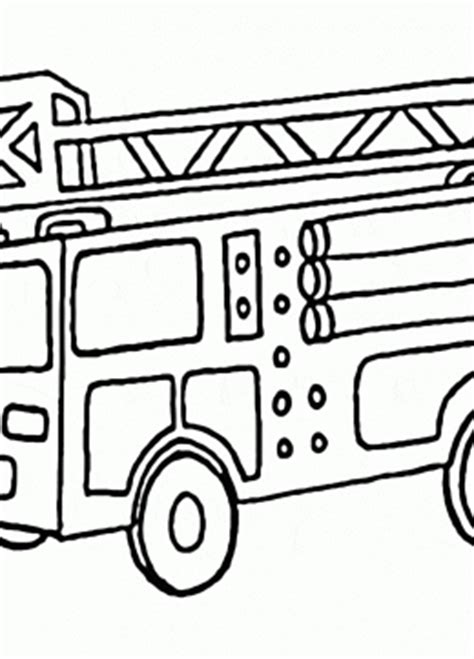 rescue truck coloring page fire truck coloring pages for kids big collection