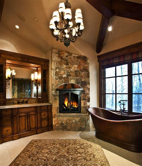 fireplace in bathroom 25 best ideas about rustic master bathroom on pinterest
