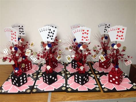 casino themed centerpieces i made these for 10