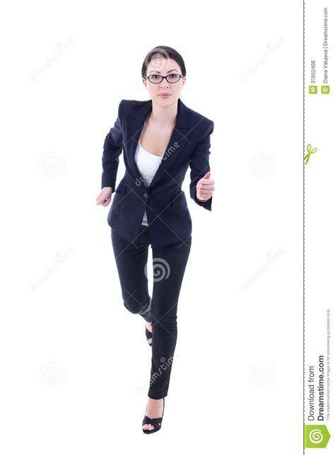 whos the black girl in the jogging suit in the liberty mutual commercial running young business woman in suit isolated on white