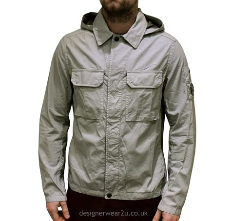 Cp Jaket Grey cp company grey lightweight overshirt style jacket with arm lens jackets from designerwear2u uk