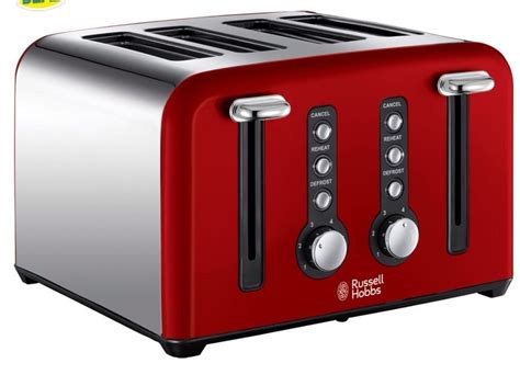 Red Russell Hobbs Toaster Russell Hobbs Windsor 4 Slice Red Toaster 22831 Ebay