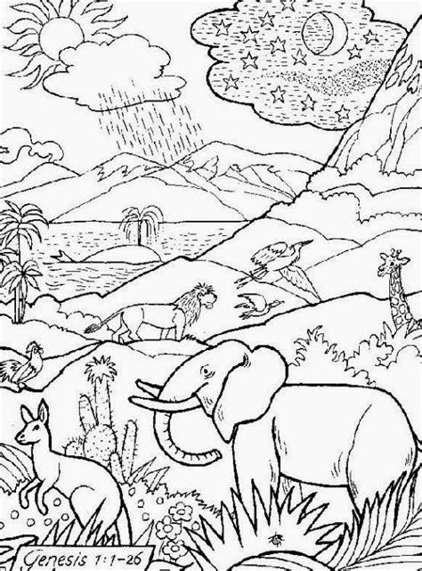 imagenes a lapiz cristianas dibujo para colorear e imprimir de la creacion de dios