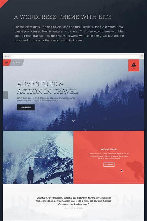 themeforest travel gnar action adventure travel wordpress theme by