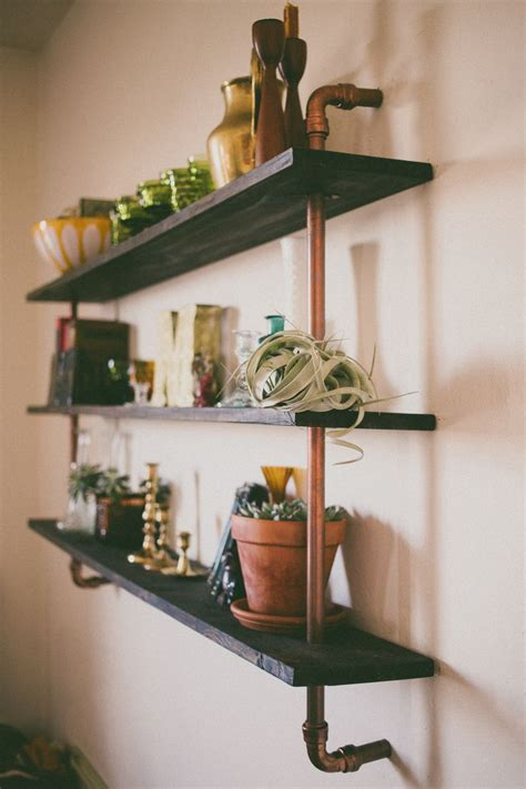 copper piping shelf made by my husband safe