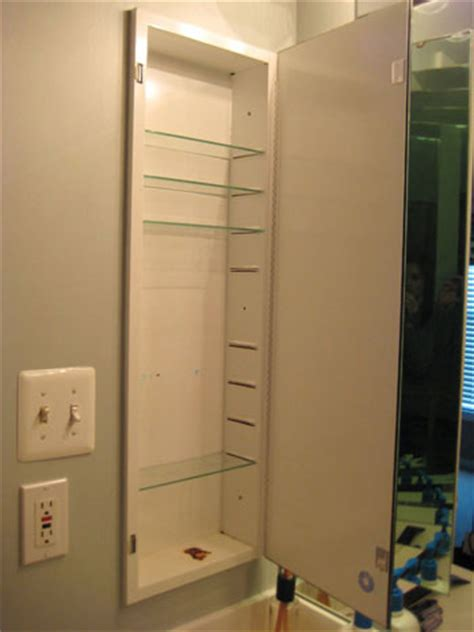 diy medicine cabinet makeover how to turn an old medicine cabinet into an open shelved