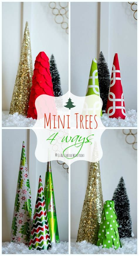diy mini trees holiday inspiration hoosier homemade