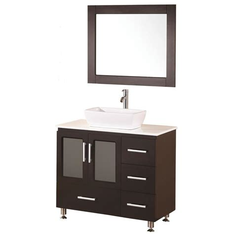 bathroom vanity with top and mirror design element stanton 36 in w x 20 in d vanity in