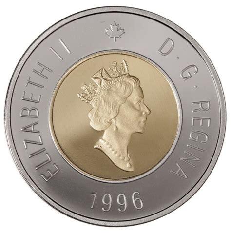 composition 2 dollar canadien 1996 proof 2 dollar coin polar