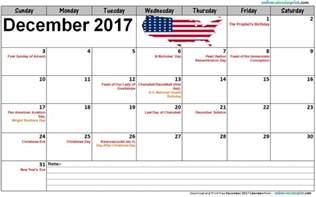 Calendar 2017 December With Holidays December Calendar 2017 With Holidays 187 Calendar Template 2017