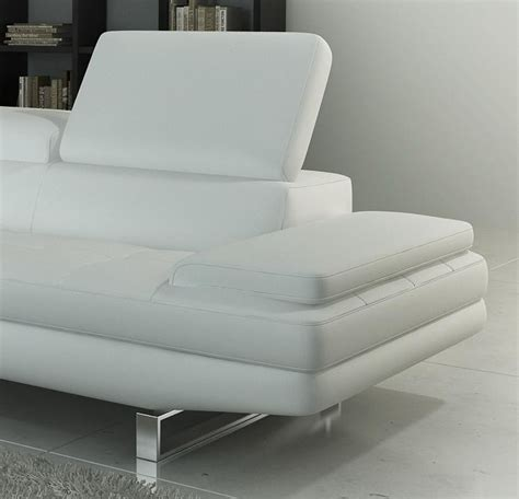 959 modern white italian leather sectional sofa