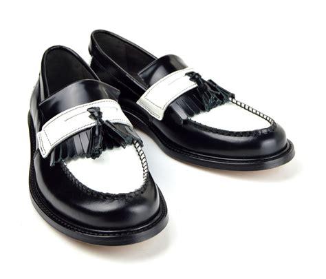 tassel loafers style princes black white tassel loafers mod ska
