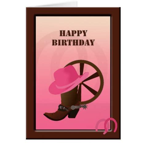Western Birthday Cards Western Cowgirl Custom Birthday Card Zazzle