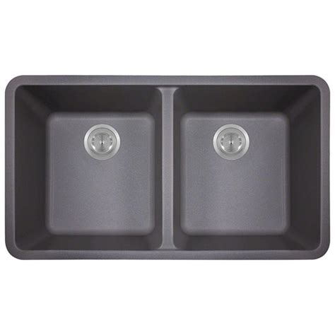 Mr Direct Kitchen Sinks Reviews Mr Direct Undermount Composite 33 In Bowl Kitchen Sink In Silver 802 Silver The Home Depot