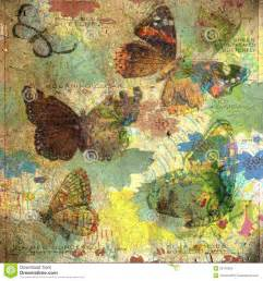 Fairy Garden Craft - vintage butterfly collage background stock images image 29176324