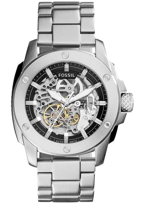 Fossil Modern Machine Automatic Me3082 fossil modern machine automatic skeleton stainless steel me3081 watches