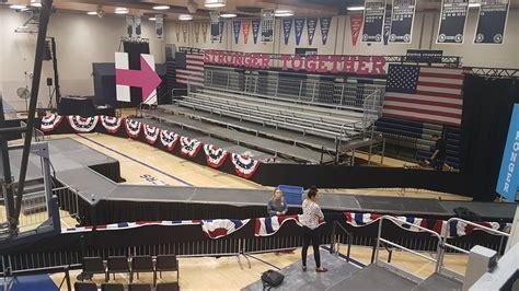 Pomerantz Mba Iowa City by Clinton Political Rally Set Up In Des Moines Ia