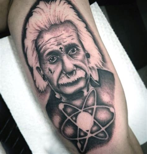 albert einstein tattoo top 100 best science tattoos for manly design ideas