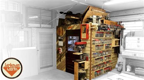 french cleat storage wall loft youtube