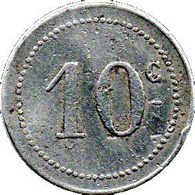 Bone Chamber 10 centimes b 244 ne chamber of commerce algeria numista
