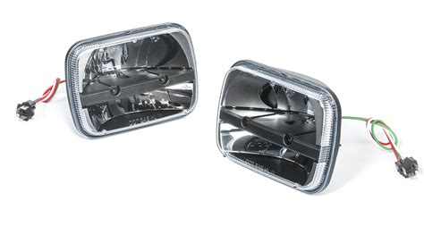 led headlights for jeep truck lite led headlight kit for 84 01 jeep wrangler yj