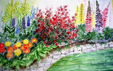 contoh gambar lukisan bunga sederhana  indah