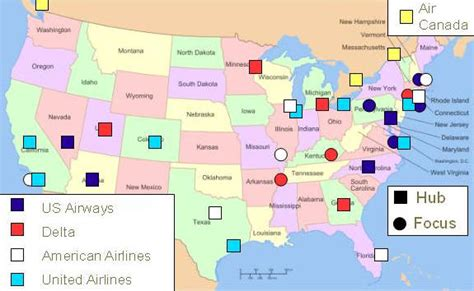 united airlines hubs america airline hubs map live abroad