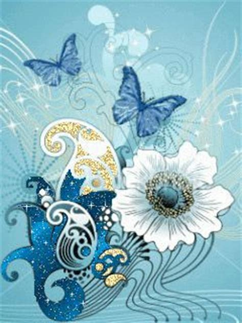 blue animated butterflies graphic    high