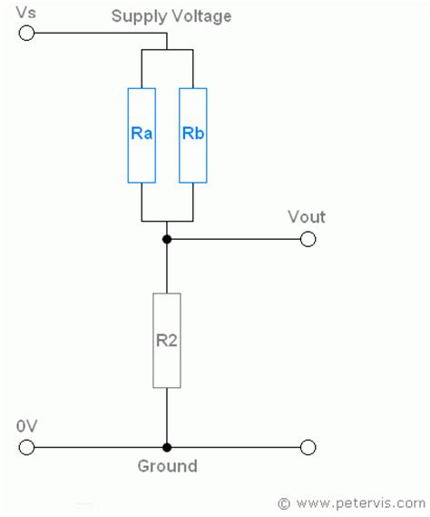 calculate resistor parallel circuit potential divider