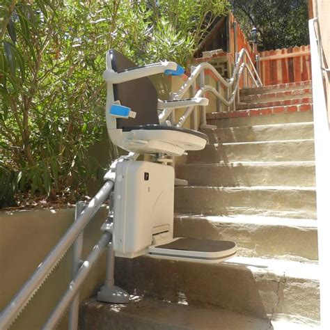 los angeles curved stairlift  indoor home residential
