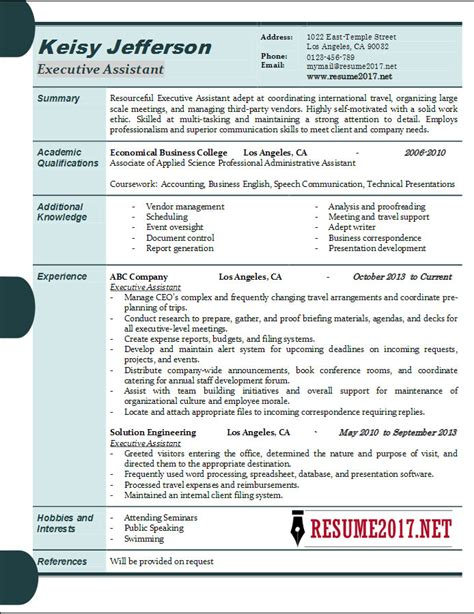 executive assistant resume example and 5 tips to writing one zipjob