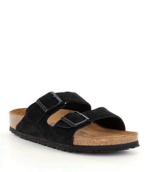 dillards womens sandals birkenstock arizona 180 s suede dual adjustable buckle