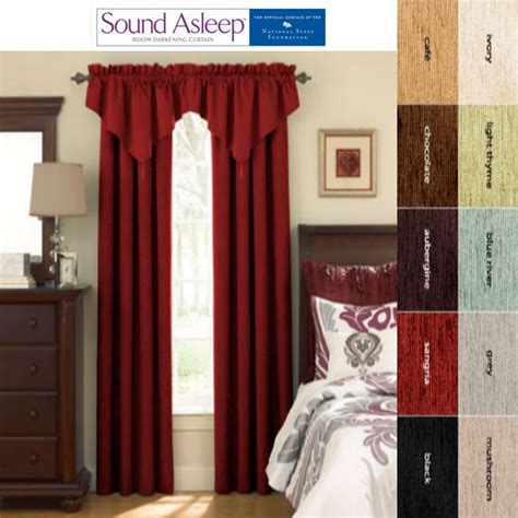 sound asleep curtains sound asleep room darkening blackout curtain panel and