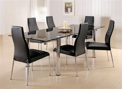 glass dining room furniture 7 piece glass dining room set home furniture design